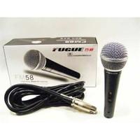 Fugue Fm-58 Dinamik Mikrofon+Kablo Dahil