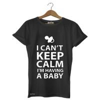 Dyetee Keep Calm Bebek Bayan T-Shirt