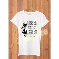 Dyetee Smelly Cat Bayan T-Shirt