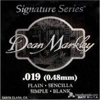 Dean Markley Plain Single .019 Elektro Gitar Telleri