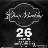 Dean Markley Nickel Steel Wounded .026 Elektro Gitar Telleri