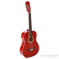 Winton 4/4 Kırmızı Klasik Gitar (Tel ve Pena Hediyeli)