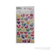 Bigpoint 851-20 Sticker Çok Renkli Kalpler Bp85120