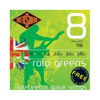 Rotosound R8 Yeşil Elektro Gitar Teli Seti