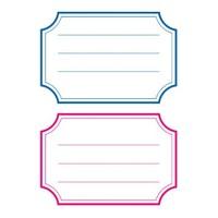 Herma Okul Etiketi Mavi/Kırmızı Çizgi 12'li Pk. (5781)