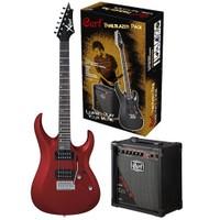 Cort Cgp-X1Rd Elektro Gitar Seti Kırmızı