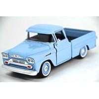 Motormax 1:24 1958 Chevy Apache Fleetside Pickup -Mavi Model Araba