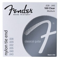Fender Nylon Acoustic Strings, 100 Clear/Silver, T