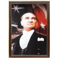 Akyazı 35x50 Atatürk Posteri-3 (Mdf Çerçeve)