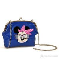 Minnie Mouse Omuz Çantası 20*16*5 cm (Mavi)