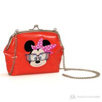 Minnie Mouse Omuz Çantası 20*16*5 cm (Kırmızı )