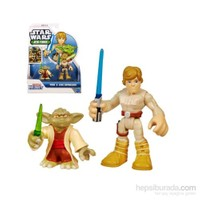 Star Wars Jedi Force Yoda Luke Skywalker Figure Pack