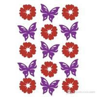 Herma Çocuk Etiketi Çiçekler ve Kelebekler