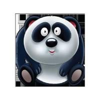 Sevimli Hayvanlar Çıkartmalı Boyama: Panda