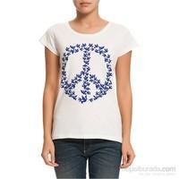 Köstebek Peace Kadın T-Shirt
