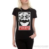 Köstebek Mr Robot - Fsociety Bt288 Kadın T-Shirt