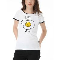 Köstebek Egg Best Kadın T-Shirt Bt360