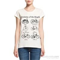 Köstebek Evolution Of The Bicycle Kadın T-Shirt
