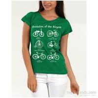 Köstebek Evolution Of The Bicylce Kadın Tişört