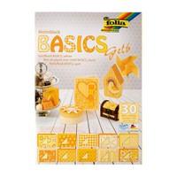 Folia Motiv Sarı Temel Dekoratif Karton