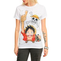 Köstebek One Piece Luffy Kadın T-Shirt