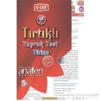 Anafen 4. Sınıf Türkçe Tırtıklı Yaprak Testler