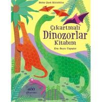 Çıkartmalı Dinozorlar Kitabım - (Kes - Boya - Yapıştır)