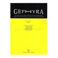 Gephyra - Doğu Akdeniz Bölgesi Eskiçağ Tarihi Ve Kültürlerini Araştırma Dergisi-Kolektif