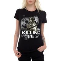 Köstebek The Walking Dead - Killin İt Kadın T-Shirt