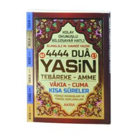 4444 Dua Yasin-İ Şerif Türkçe Okunuşlu Mealli (Cep Boy)