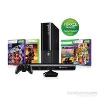 Microsoft Xbox 360 250 GB Konsol + Kinect Sensör + Gears Of War 2 + Dance Central 3 + Kinect Adventures + Forza Horizon