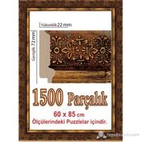 Heidi Kabartmalı Puzzle Çerçevesi 1500 Parça İçin 85 X 60 Cm