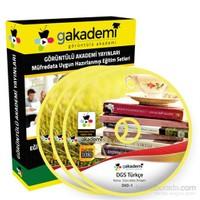 DGS Türkçe Çözümlü Soru Bankası Eğitim Seti 6 DVD