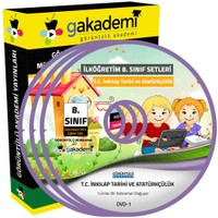 Görüntülü Akademi İlköğretim 8. Sınıf T.C. İnkılap Tarihi Ve Atatürkçülük Görüntülü Eğitim Seti (14 Dvd)