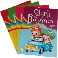 Sihirli Boyama Seti (4 Kitap Takım)-Kolektif