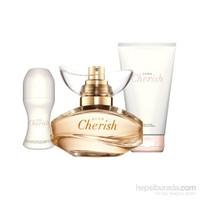 Avon Cherish Parfüm Losyon Roll-On Set