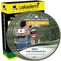 Görüntülü Akademi 6. Sınıf Fen Bilimleri Görüntülü Eğitim Seti (7 Dvd)