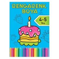 Rengarenk Boya 3 4-5 Yaş Mavi Kitap-Kolektif