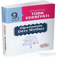 9. Sınıf Ortaöğretim Türk Edebiyatı Öğretmenin Ders Notları - Metin Sertkaya