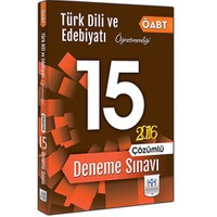 Müfredat Yayınları Öabt 2016 Türk Dili Ve Edebiyatı Öğretmenliği Çözümlü 15 Deneme Sınavı