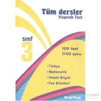Bloktest 3. Sınıf Tüm Dersler Yaprak Test-Kolektif