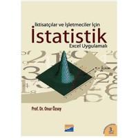 İktisatçılar ve İşletmeciler İçin İstatistik - Onur Özsoy