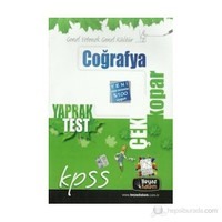 Beyaz Kalem 2015 Kpss Coğrafya Çek Kopart Yaprak Test