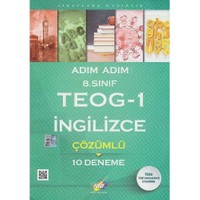 Fdd 8. Sınıf Adım Adım Teog 1 İngilizce Çözümlü 10 Deneme-Kolektif