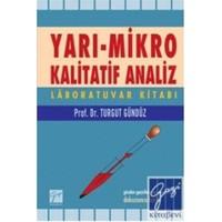 Yarı- Mikro Kalitatif Analiz Labaratuar Kitabı