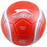 Slazenger Zenith V-200 Mat Deri Dikişli 5 No Futbol Topu Kırmızı