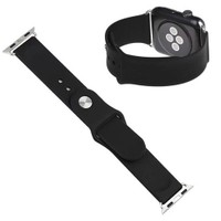 Case 4U Apple Watch Spor Kordon (Slikon) Siyah (38mm)