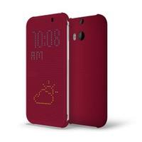 HTC One (M8) Dot View Flip Case Mor Kılıf - 1011100242