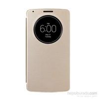 Case 4U LG G3 Flip Cover Altın ( Uyku Modlu)