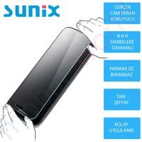 Sunix İphone 5S Cam Ekran Koruyucu + Ultra İnce Silikon Kapak Şeffaf